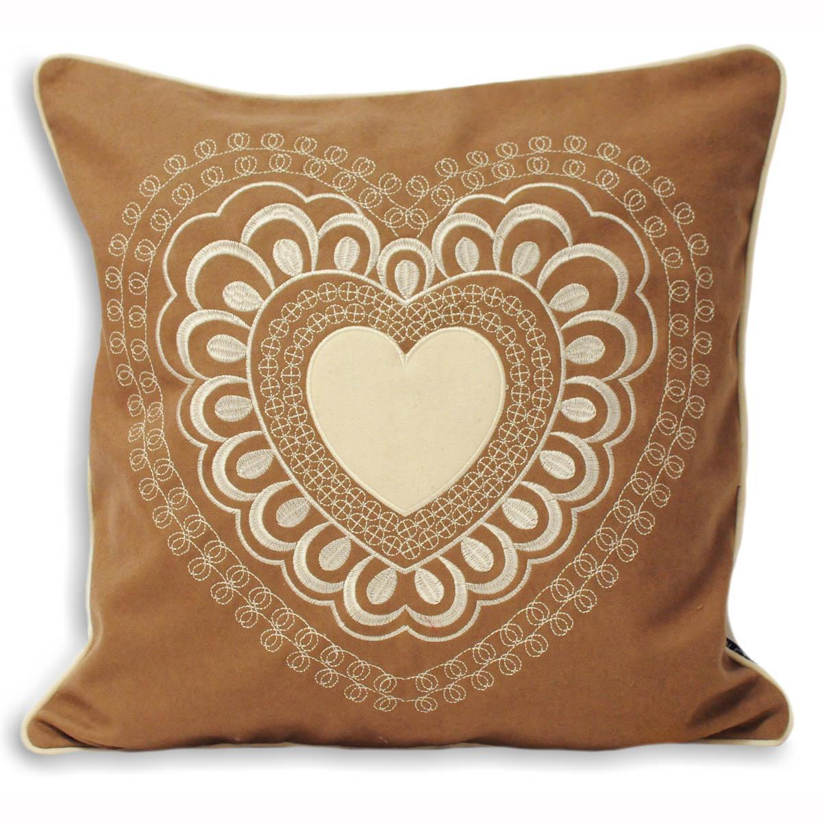 Riva Cushions And Throws Valantine Square Filled Cushion Caramel Picture