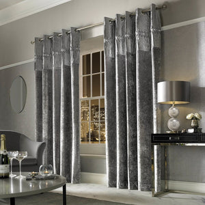 Kylie Minogue - Veda Eyelet Curtains Silver
