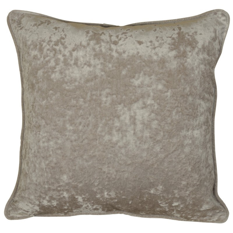 DTI Cushions And Throws  Velvet C/Cover 20'' x 20'' Stone
