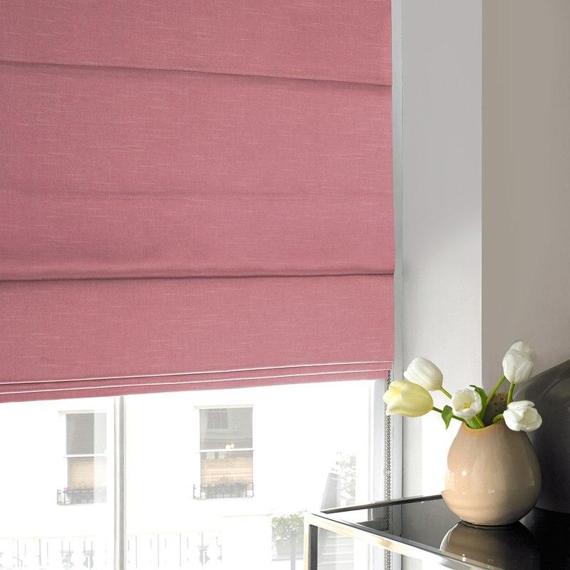 Illuminate Blinds Verde Roman Blind Hibiscus Picture