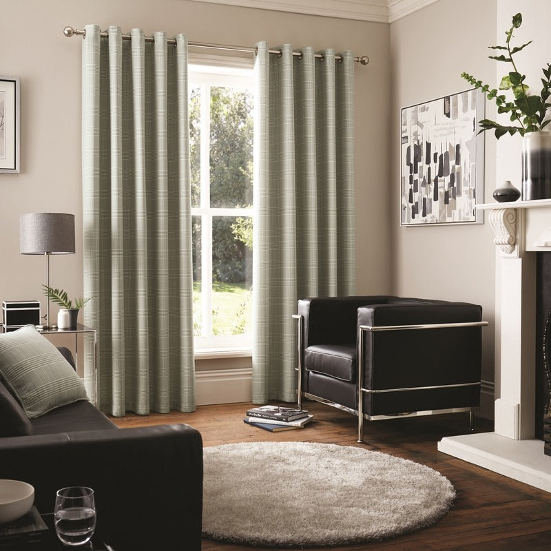J Rosenthal Ready Made Curtains Vermont Ready Made Eyelet Curtains Grey Picture
