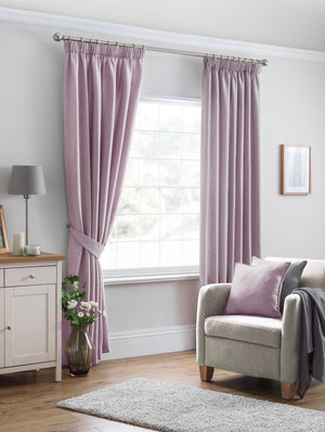 Versailles Ready Made Lined Curtains Heather