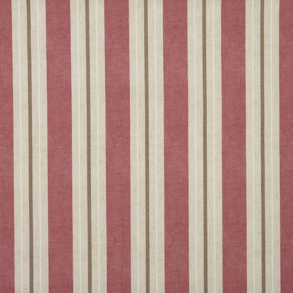 Vintage Stripe Curtain Fabric Pink