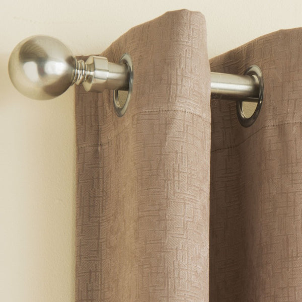 Vogue Ready Made Thermal Blockout Eyelet Curtains Latte