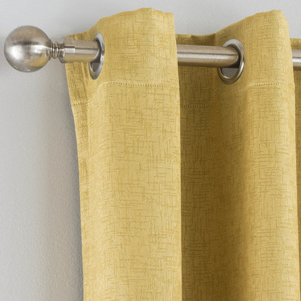 Vogue Ready Made Blockout Eyelet Curtains Ochre