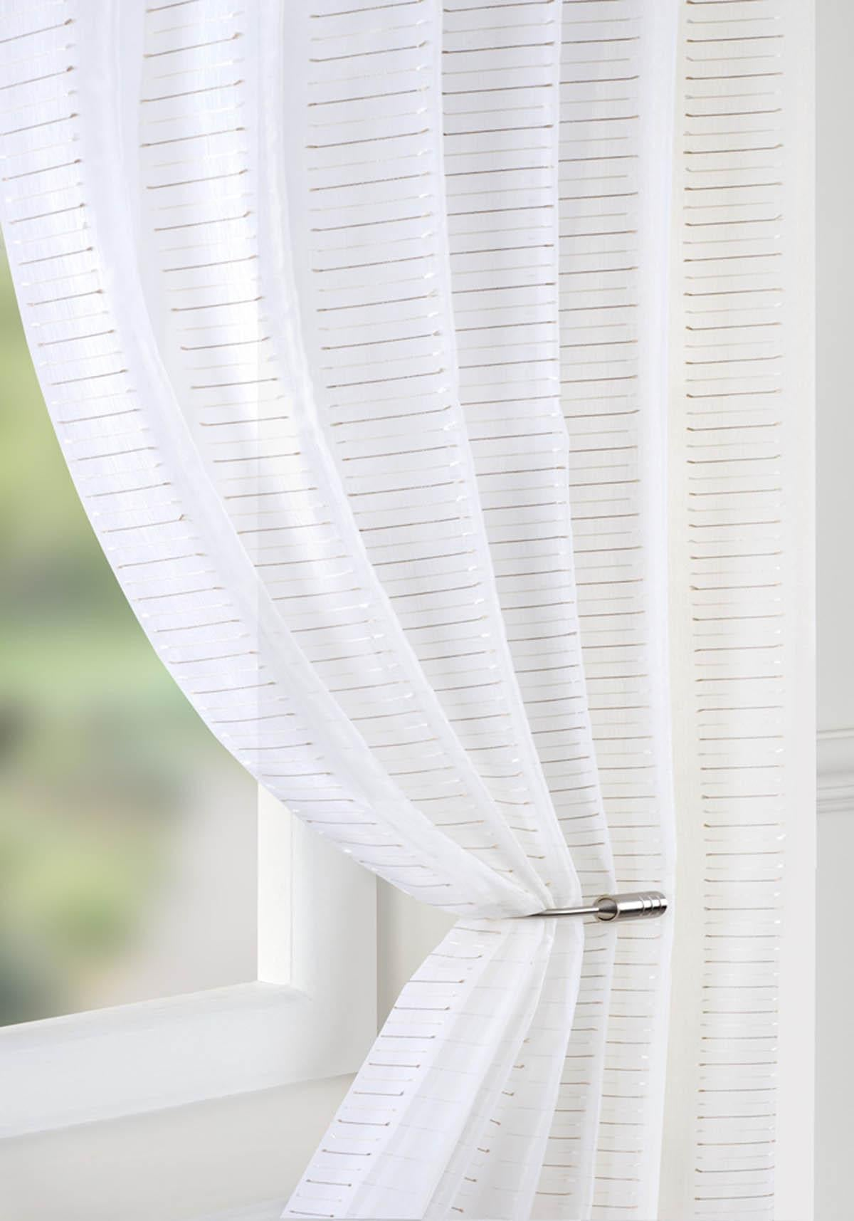 Pavilion Ready Made Curtains  Mexico Voile Curtain Panel Natural