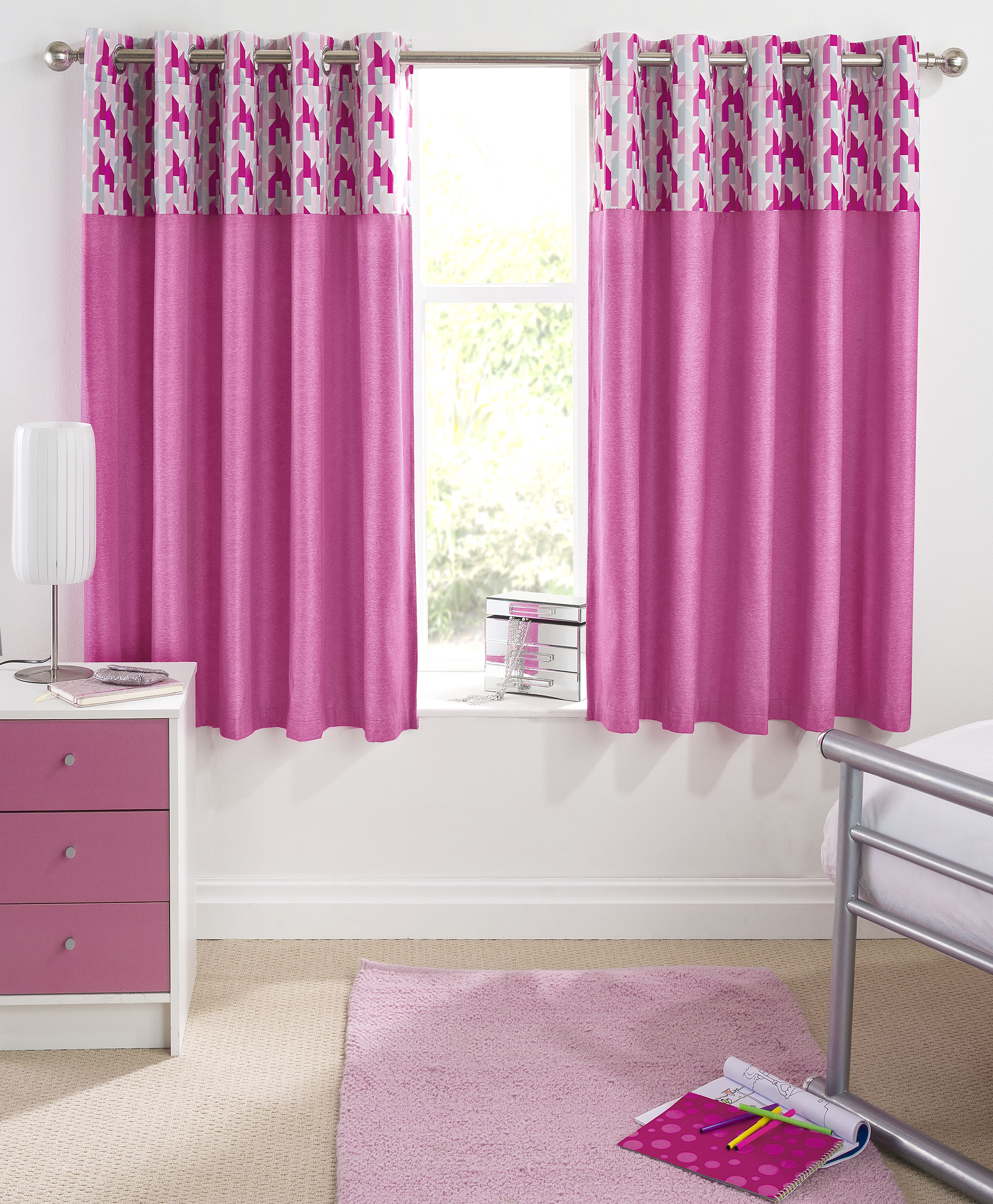 Click to view product details and reviews for Vortex Ready Made Thermal Blackout Eyelet Curtains Pink.
