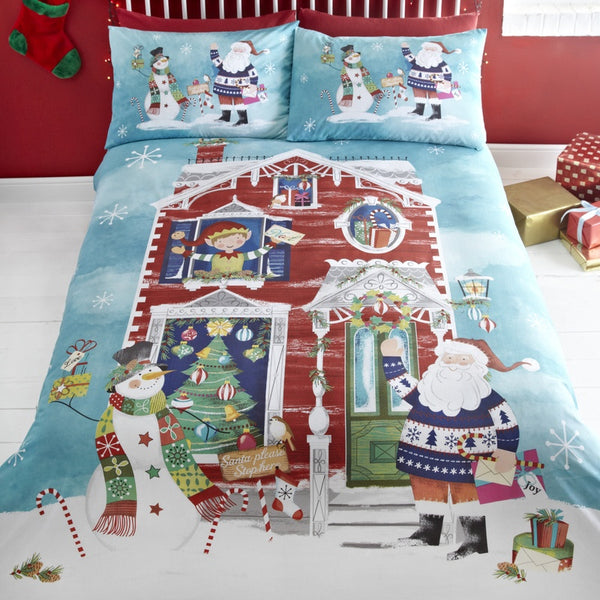 Waiting for Santa Christmas Bedding Set Multi