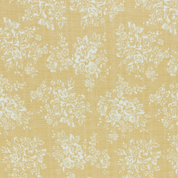 Cath Kidston Washed Rose Curtain Fabric Ochre