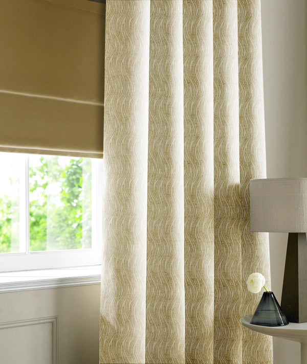 Wave Chenille Made to Measure Curtains Vanilla