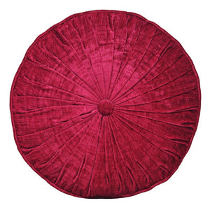 Wellesley Filled Round Cushion Raspberry