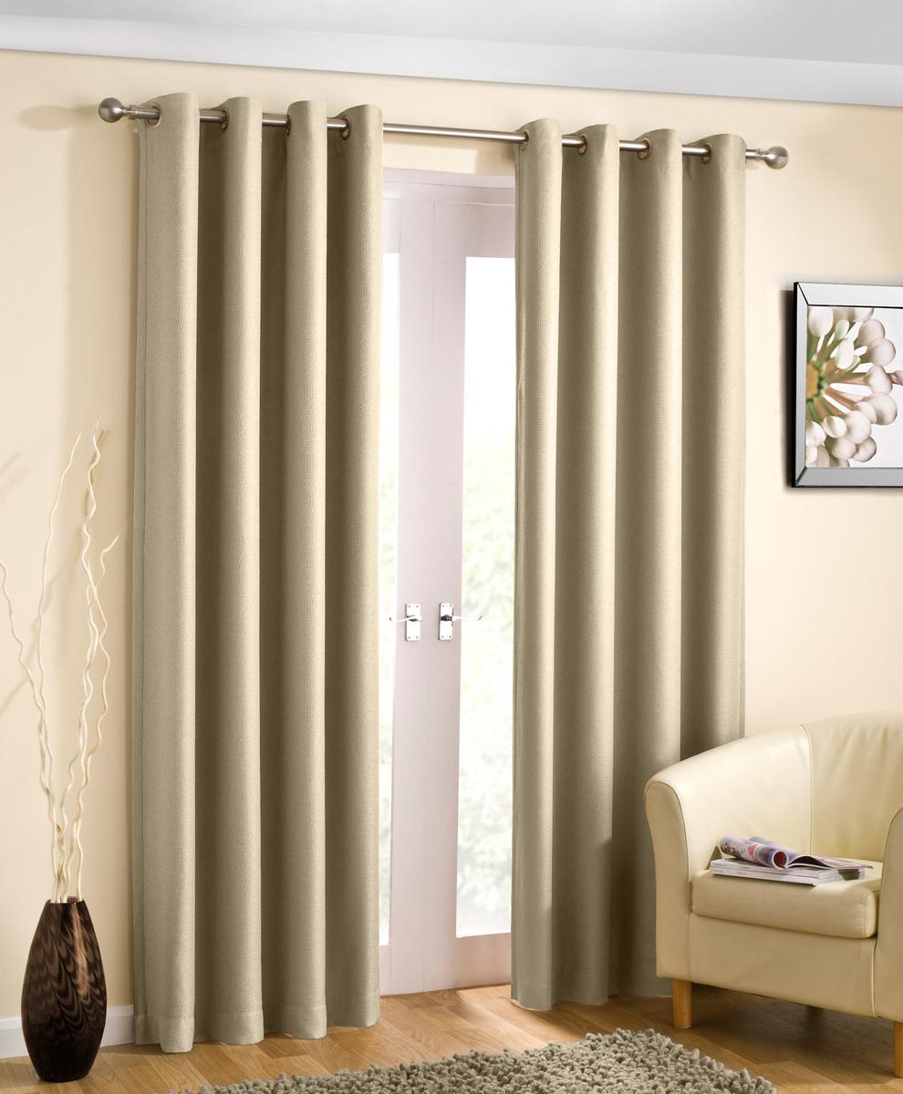 Tyrone Ready Made Curtains Wetherby Ready Made Blockout Curtains Cream Picture