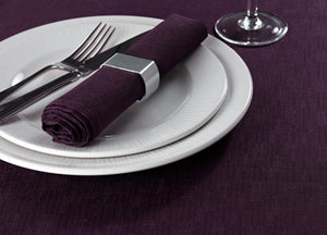 Wexford Tablecloth Aubergine