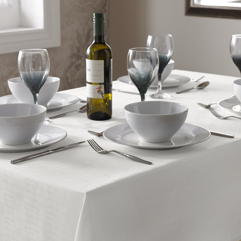 Alan Symonds Homewares  Select Table Cloth White