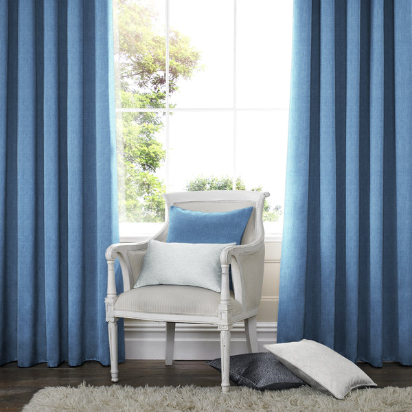 Willow Made to Measure Curtains Denim