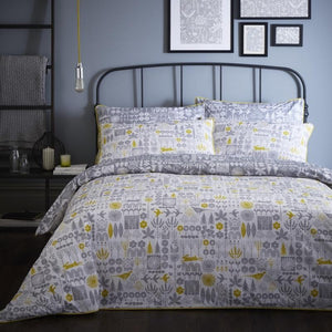 Yunkari Sweeney Woodland Bedding Set Grey