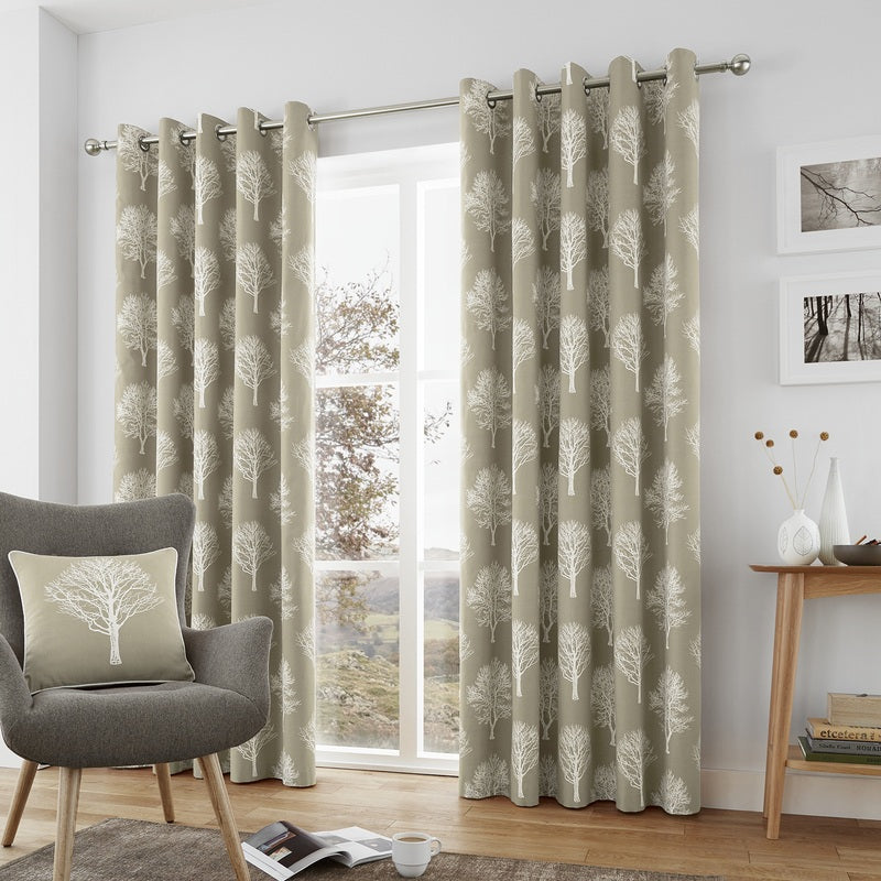J Rosenthal Ready Made Curtains Woodland Trees Ready Made Lined Eyelet  ... Picture
