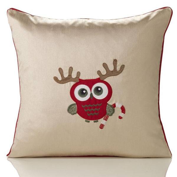 Candy Embroidered Christmas C/Cover Cream