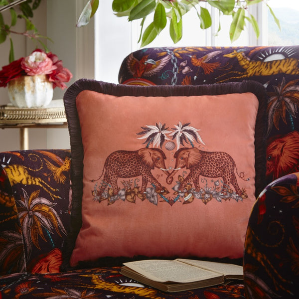 Emma Shipley Zambezi Duvet Cover Wine and Blush