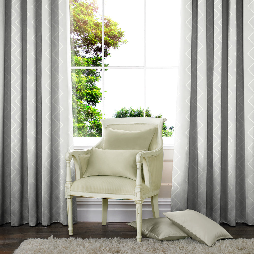 Belfields Made to Measure Curtains Marley Made to Measure Curtains Silver Picture