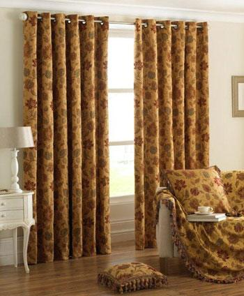 Riva Ready Made Curtains Zurich Ready Made Eyelet Curtains Gold Picture