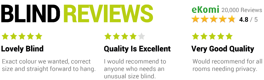 Roman Blind Kits Reviews
