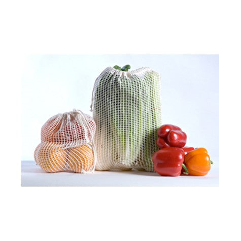 Organic Cotton Produce Bags (Set of 3)