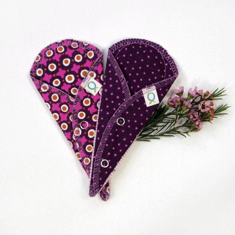 Reusable Mini Pantyliners for Thongs (Set of 2)