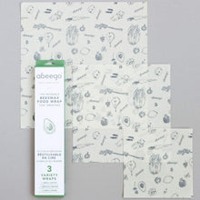 VARIETY Beeswax Food Wraps (S, M, L)