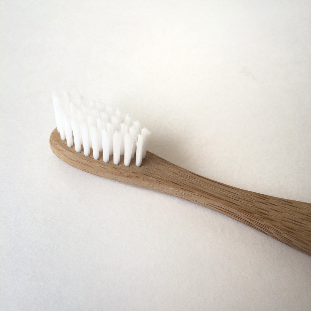 Bamboo Toothbrush With Nylon Bristles