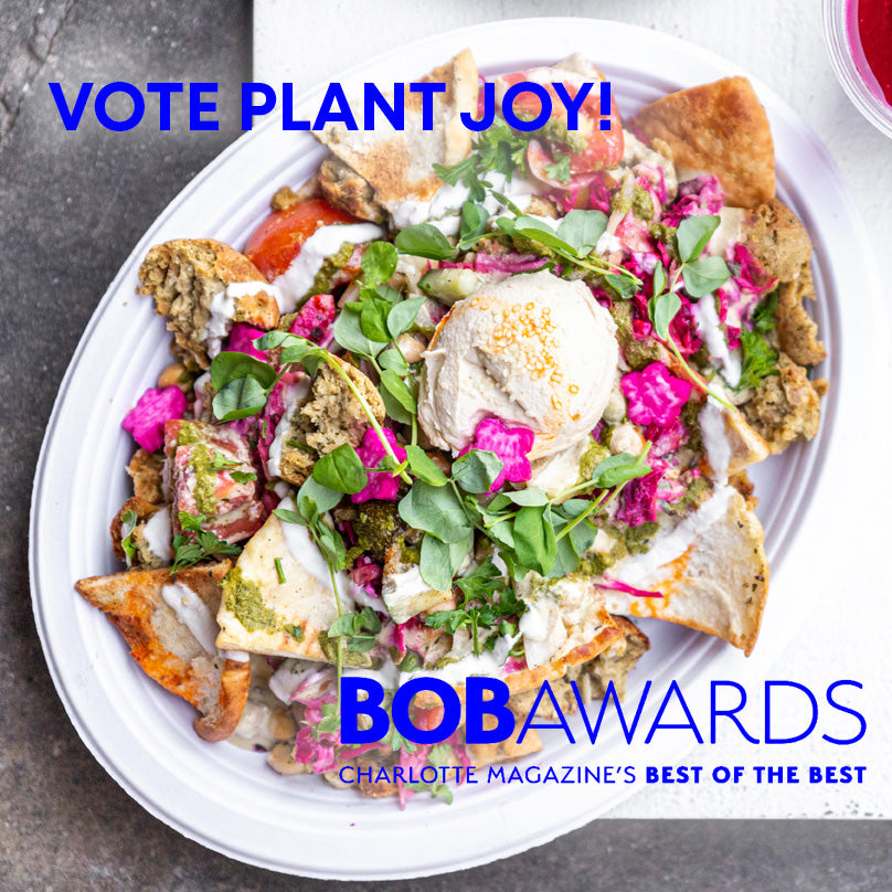Charlotte Magazine's BOB awards are live, and Plant Joy needs your support!