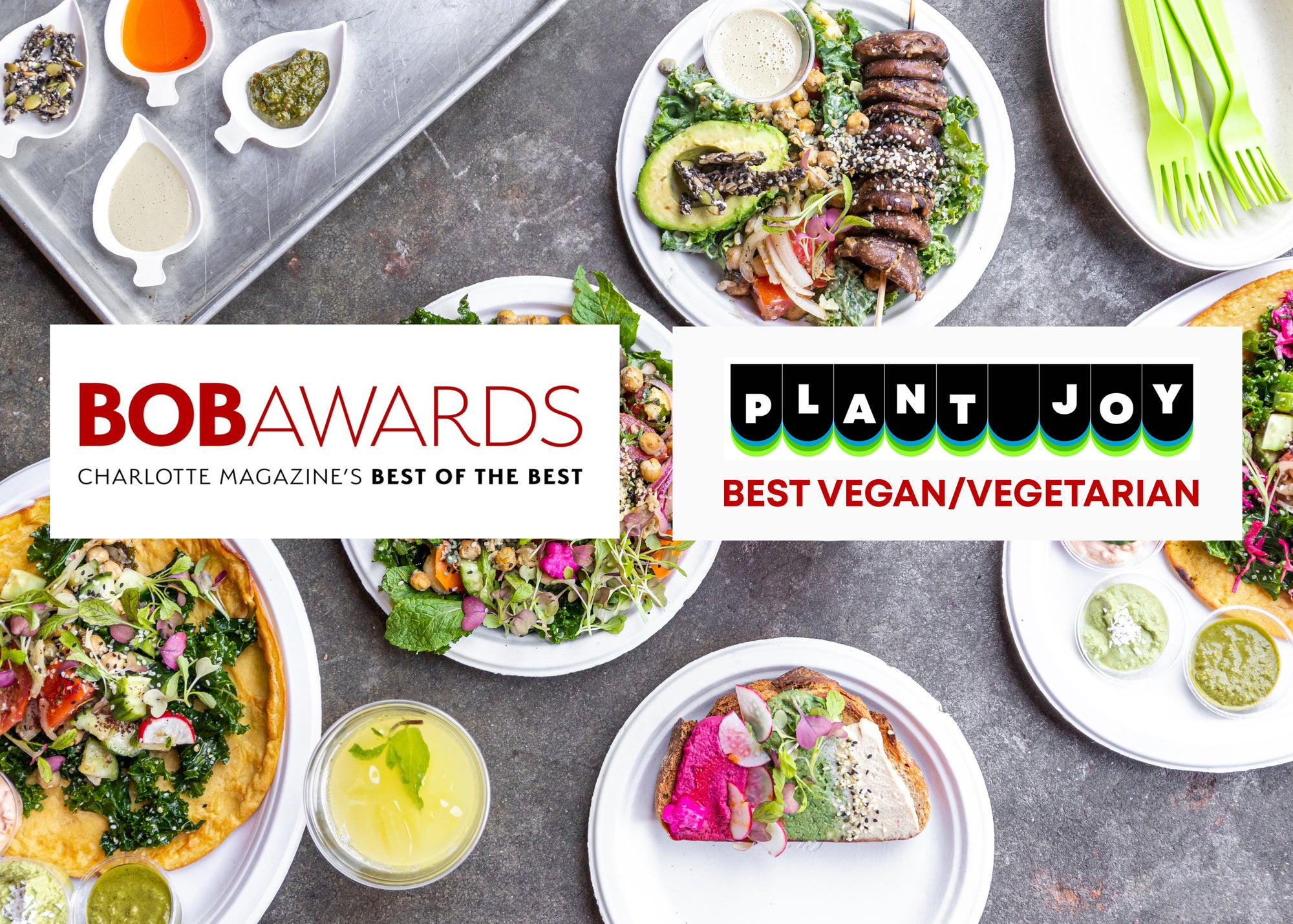 THANK YOU CHARLOTTE! Plant Joy wins Best Vegan/Vegetarian from Charlotte Mag!