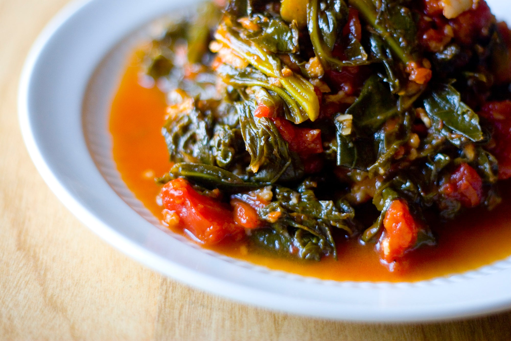 Smoky Fall Greens with Bourbon Sea Salt and Roasted Sweet Potato