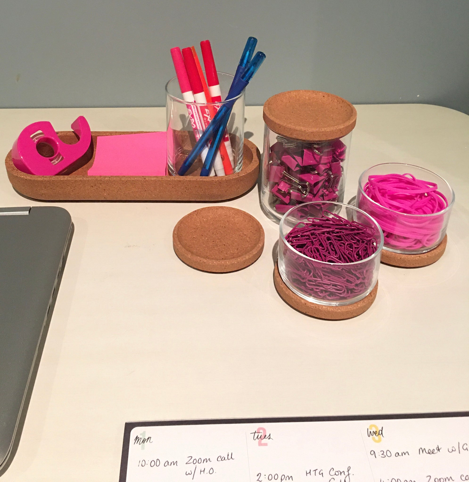 DESK ACCESSORIES PINK- Limited Inventory - FREE DELIVERY - $50