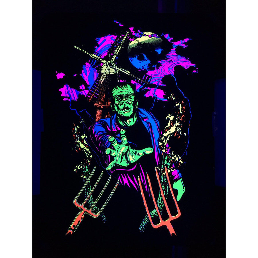 Blacklight Frankenstein Poster