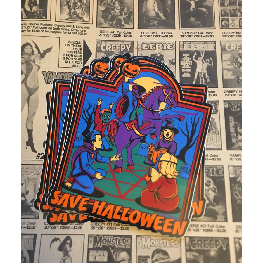 Save Halloween Sticker