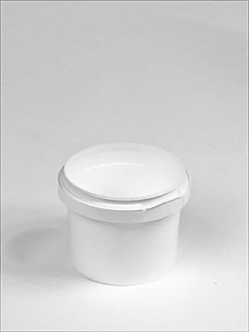 120ml White Plastic Pail Complete With White Lid - Mystic Moments UK