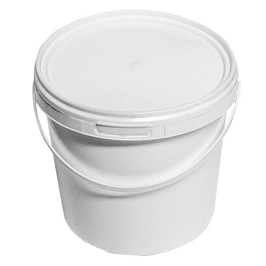 1.5 Litre White Plastic Pail Complete With White Lid - Mystic Moments UK