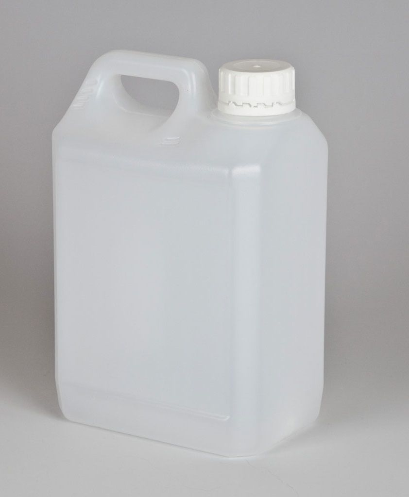 5 Litre Plastic Natural Jerry Can 38mm Neck Complete With White T/E Cap - Mystic Moments UK