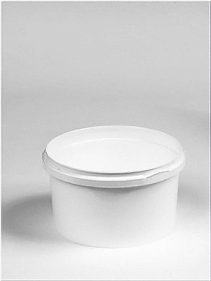 500ml White Plastic Pail Complete With White Lid - Mystic Moments UK