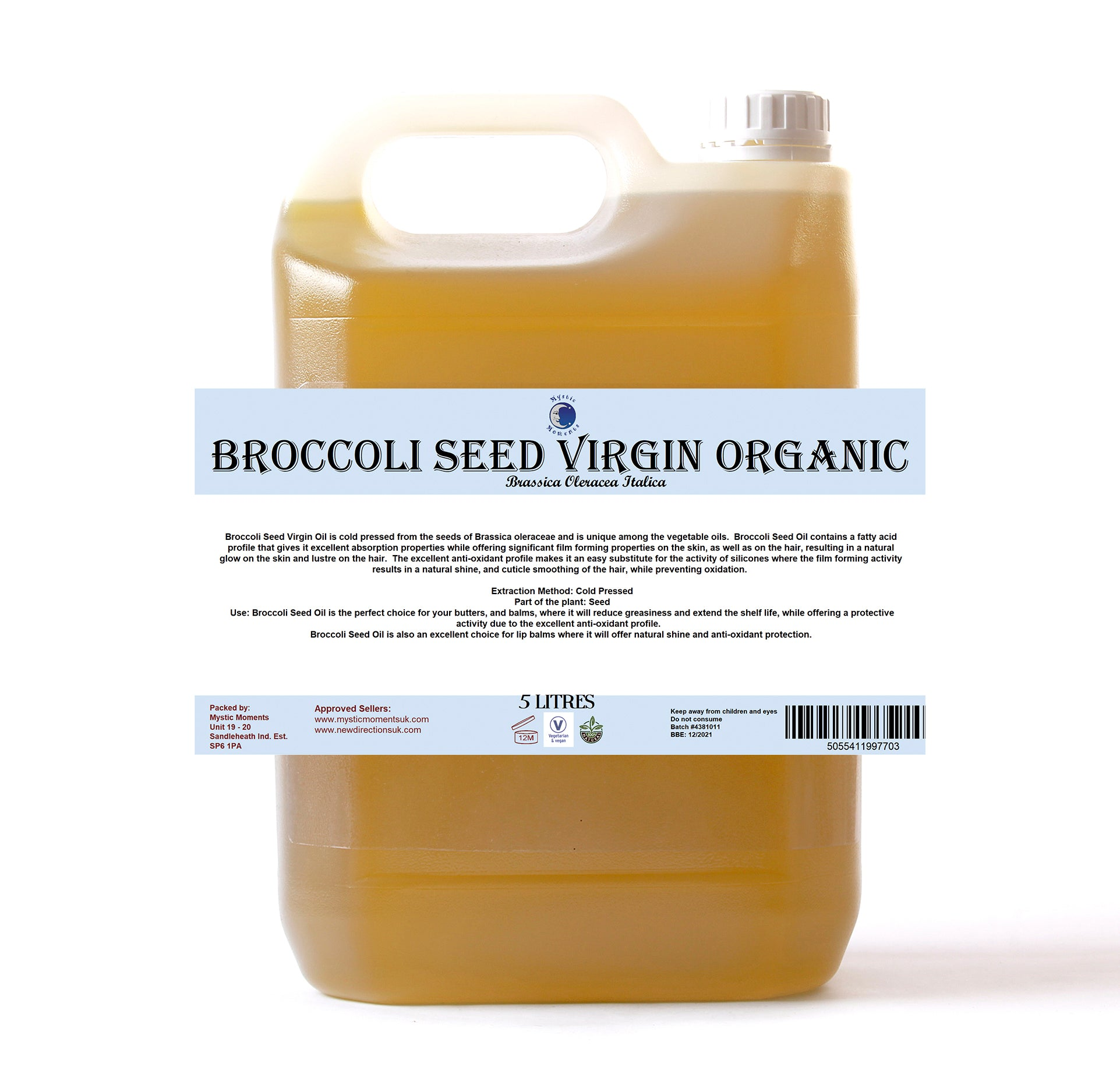 Broccoli Seed Virgin Organic Carrier Oil