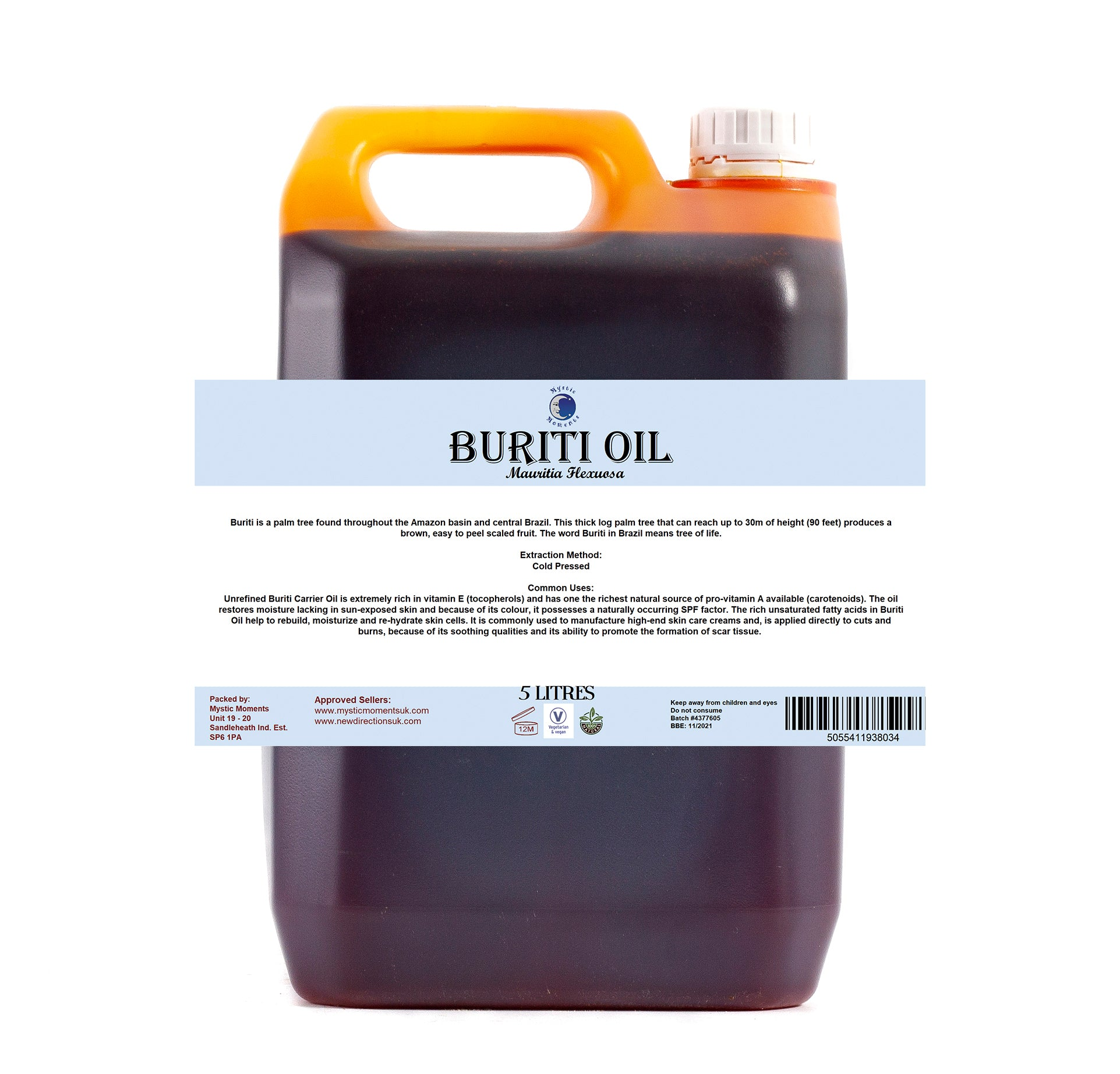Buriti Virgin Carrier Oil
