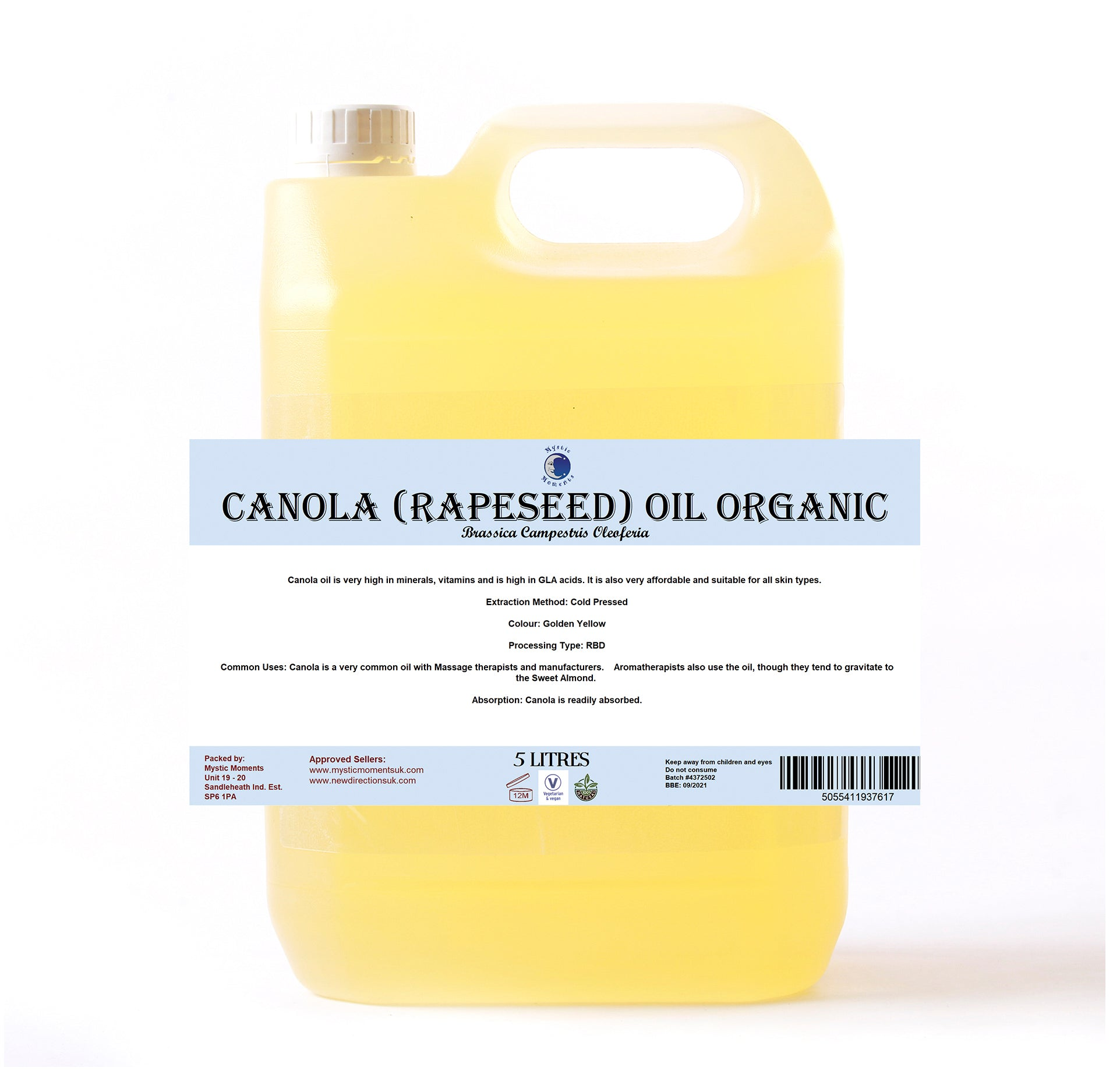 Canola (Rapeseed) Organic Carrier Oil