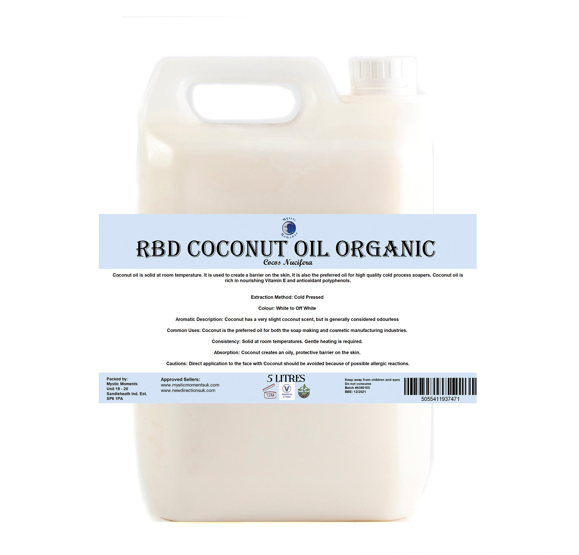 Coconut RBD Organic Carrier Oil