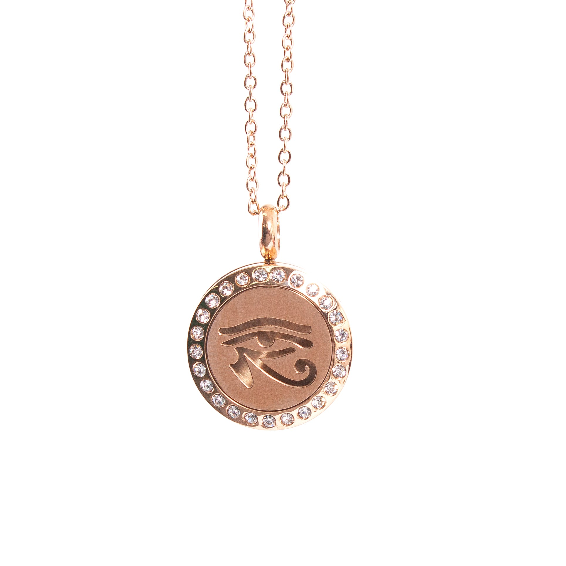 Eye of Horus | Aromatherapy Oil Diffuser Necklace Locket with Pad