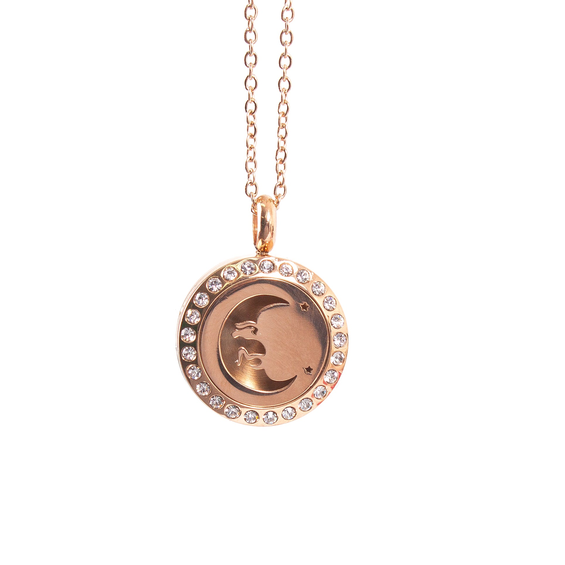 Mystical Moon | Aromatherapy Oil Diffuser Necklace Locket with Pad