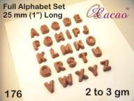 Alphabet Chocolate/Sweet/Soap/Plaster/Bath Bomb Mould #176 (26 cavity) - Mystic Moments UK