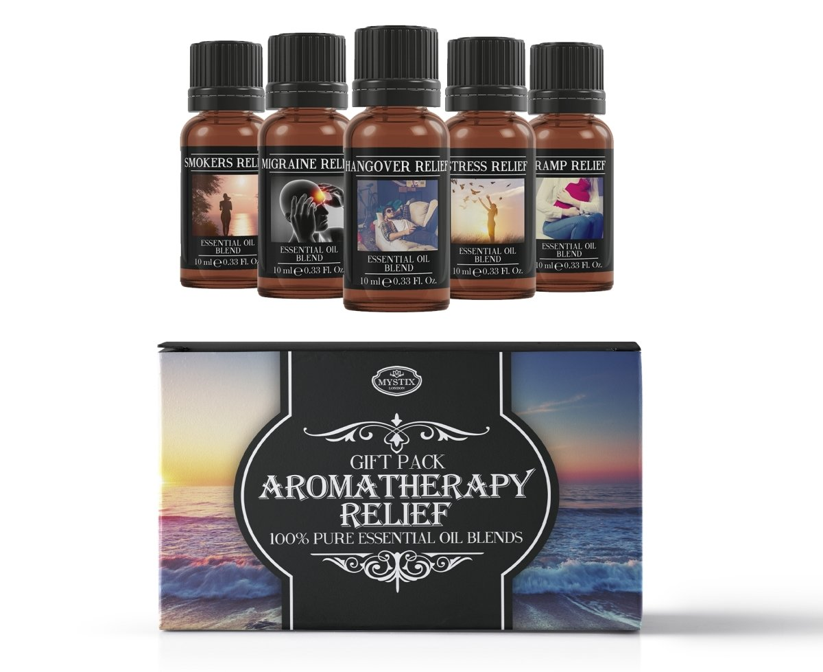 Aromatherapy Relief | Essential Oil Blend Gift Pack - Mystic Moments UK