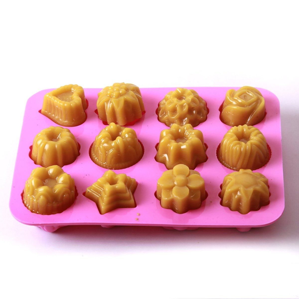 Assorted Shapes Cake/Jelly/Soap Silicone Soap Mould B0001 - Mystic Moments UK