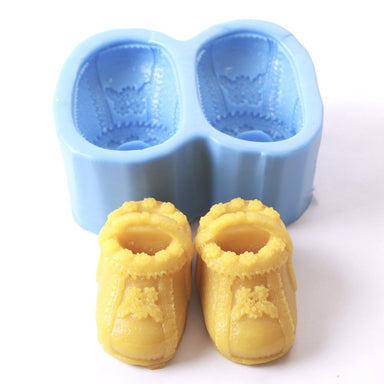 Baby Booties/Boot/Shoe Silicone Soap Mould R0106 - Mystic Moments UK